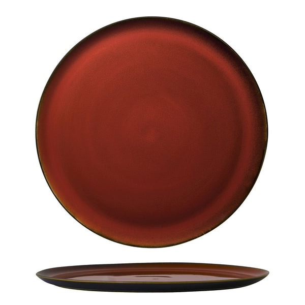 RUSTIC CRIMSON PIZZA PLATE