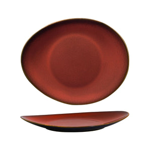 948833 Luzerne Rustic Crimson Oval Coupe Plate Globe Importers Adelaide Hospitality Supplies