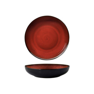 RUSTIC CRIMSON ROUND SHARE BOWL