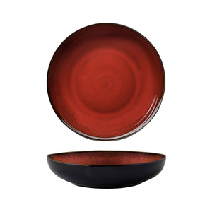 948853 Luzerne Rustic Crimson Round Share Bowl Globe Importers Adelaide Hospitality Supplies