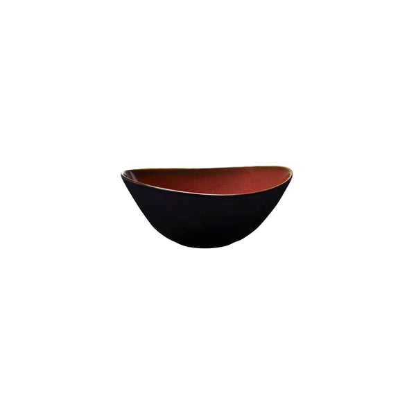 RUSTIC CRIMSON OVAL BOWL