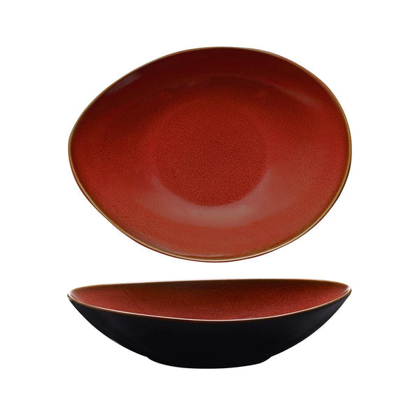 948876 Luzerne Rustic Crimson Oval Share Bowl Globe Importers Adelaide Hospitality Supplies