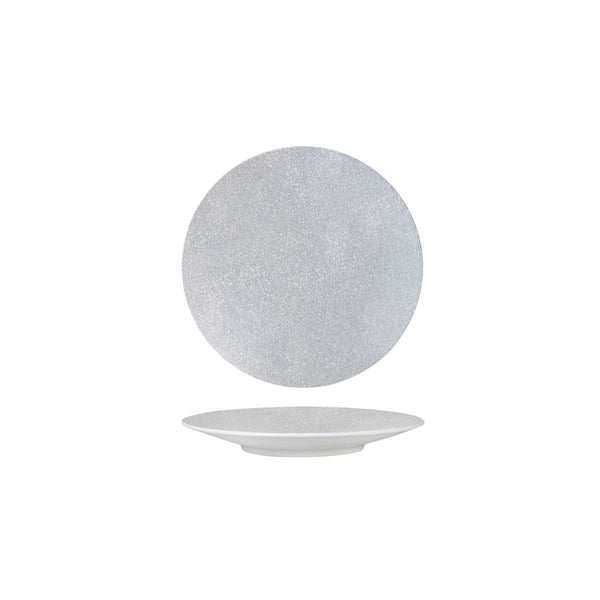 94906-GW Luzerne Zen Grey Web Round Coupe Plate Globe Importers Adelaide Hospitality Supplies