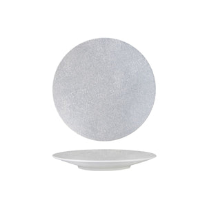 94908-GW Luzerne Zen Grey Web Round Coupe Plate Globe Importers Adelaide Hospitality Supplies
