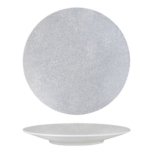 94912-GW Luzerne Zen Grey Web Round Coupe Plate Globe Importers Adelaide Hospitality Supplies