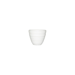 9951041 Churchill Bit On The Side Ripple Sauce Pot White Globe Importers Adelaide Hospitality Supplies