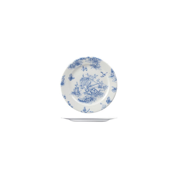 VINTAGE PRINTS ROUND PLATE - TOILE