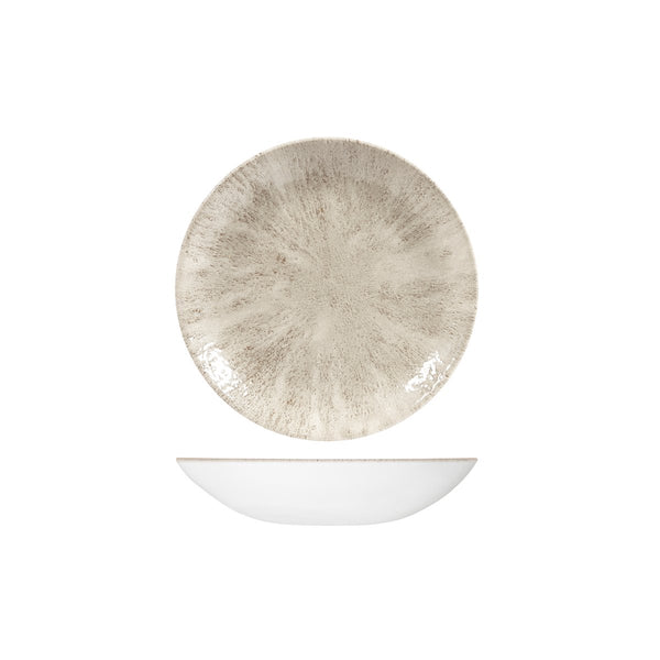 STONE AGATE GREY ROUND COUPE BOWL
