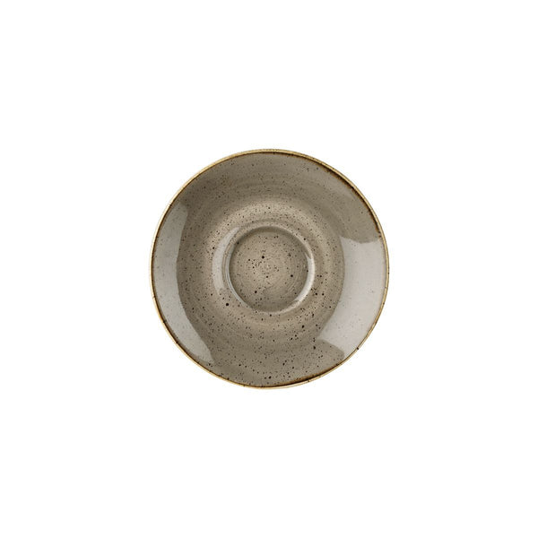 PEPPERCORN GREY CAPPUCCINO SAUCER