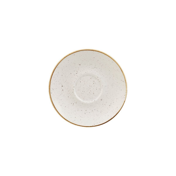 9975028-W Stonecast Barley White Cappuccino Saucer Globe Importers Adelaide Hospitality Supplies