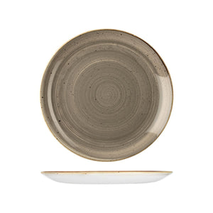 PEPPERCORN GREY ROUND COUPE PLATE