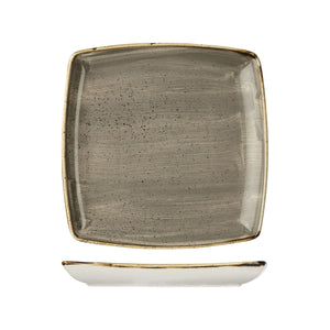 PEPPERCORN GREY DEEP SQUARE PLATE