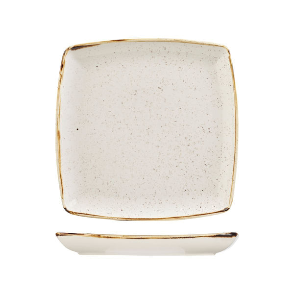 BARLEY WHITE DEEP SQUARE PLATE