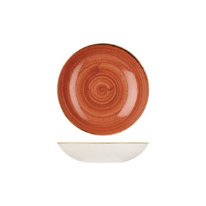 9975618-O Stonecast Spiced Orange Round Coupe Bowl Globe Importers Adelaide Hospitality Supplies