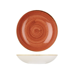 9975625-O Stonecast Spiced Orange Round Coupe Bowl Globe Importers Adelaide Hospitality Supplies