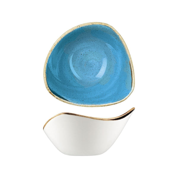 CORNFLOWER TRIANGULAR BOWL