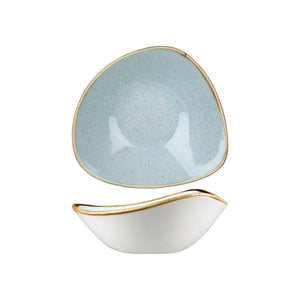 DUCK EGG TRIANGULAR BOWL
