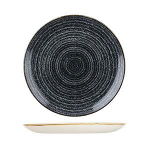 9976129-C Studio Prints Homespun Charcoal Black Round Coupe Plate Globe Importers Adelaide Hospitality Supplies