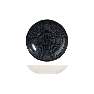 9976618-C Studio Prints Homespun Charcoal Black Round Coupe Bowl Globe Importers Adelaide Hospitality Supplies
