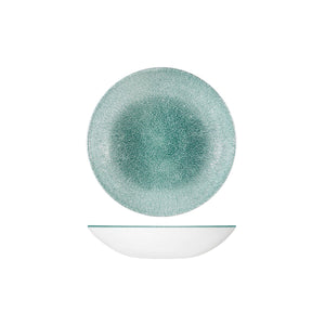 RAKU JADE GREEN ROUND COUPE BOWL
