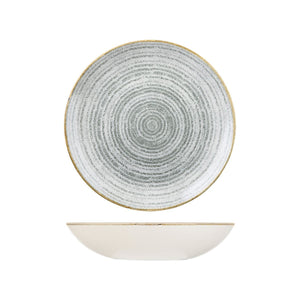 HOMESPUN STONE GREY ROUND COUPE BOWL