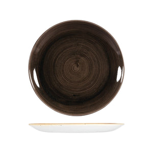PATINA IRON BLACK ROUND COUPE PLATE