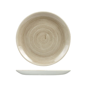 PATINA TAUPE ROUND COUPE PLATE