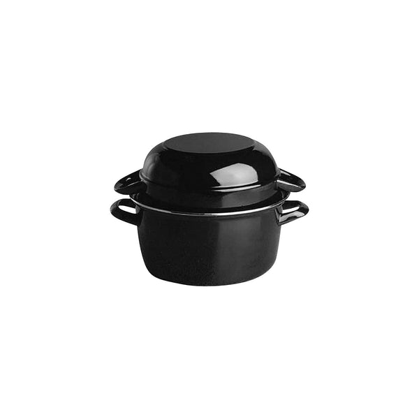 APS00625-T Mussel Pot - Black Enamel Globe Importers Adelaide Hospitality Suppliers