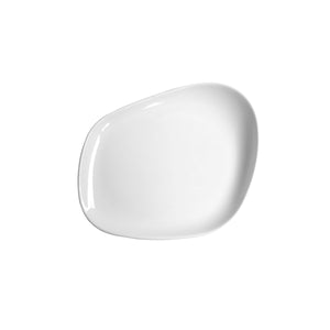 CKP-11004 Cookplay Yayoi White Glazed Flat Plate 230x200x35mm Globe Importers Adelaide Hospitality Supplies