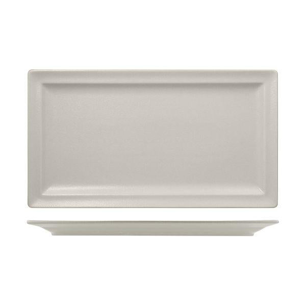 NFCLRP38WH RAK Neo Fusion Sand Rectangular Flat Plate Globe Importers Adelaide Hospitality Supplies