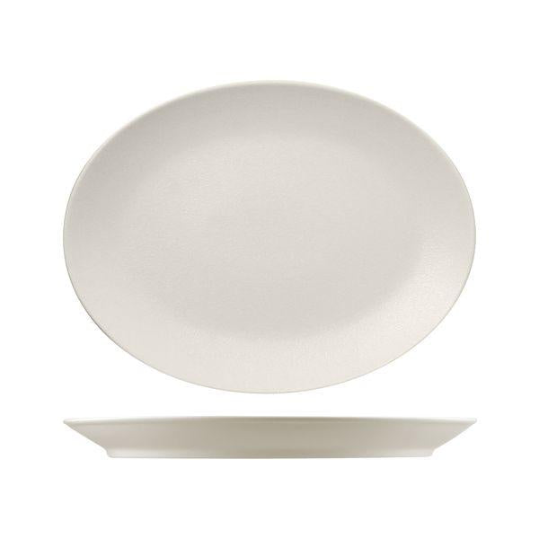 NFNNOP36WH RAK Neo Fusion Sand Oval Coupe Platter Globe Importers Adelaide Hospitality Supplies