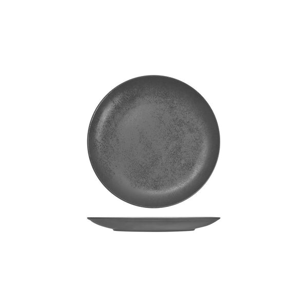 RK3180-GY RAK Porcelain Karbon Shale Round Coupe Plate Globe Importers Adelaide Hospitality Supplies