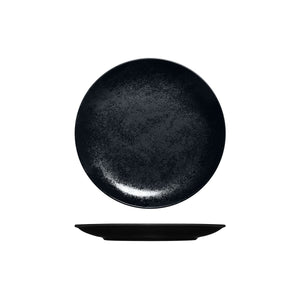 RK3210-BK RAK Porcelain Karbon Black Round Coupe Plate Globe Importers Adelaide Hospitality Supplies