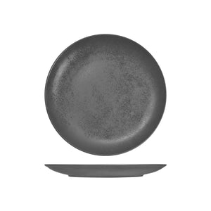 RK3240-GY RAK Porcelain Karbon Shale Round Coupe Plate Globe Importers Adelaide Hospitality Supplies