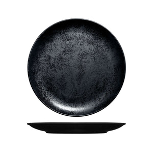RK3270-BK RAK Porcelain Karbon Black Round Coupe Plate Globe Importers Adelaide Hospitality Supplies