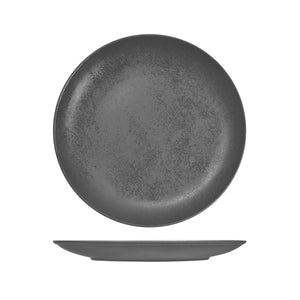 RK3270-GY RAK Porcelain Karbon Shale Round Coupe Plate Globe Importers Adelaide Hospitality Supplies
