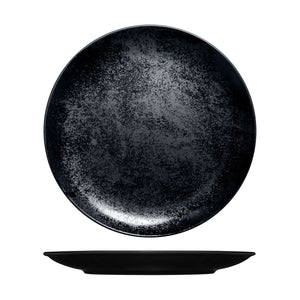 RK3290-BK RAK Porcelain Karbon Black Round Coupe Plate Globe Importers Adelaide Hospitality Supplies