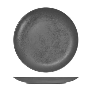 RK3290-GY RAK Porcelain Karbon Shale Round Coupe Plate Globe Importers Adelaide Hospitality Supplies