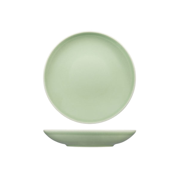 VINTAGE GREEN ROUND COUPE BOWL