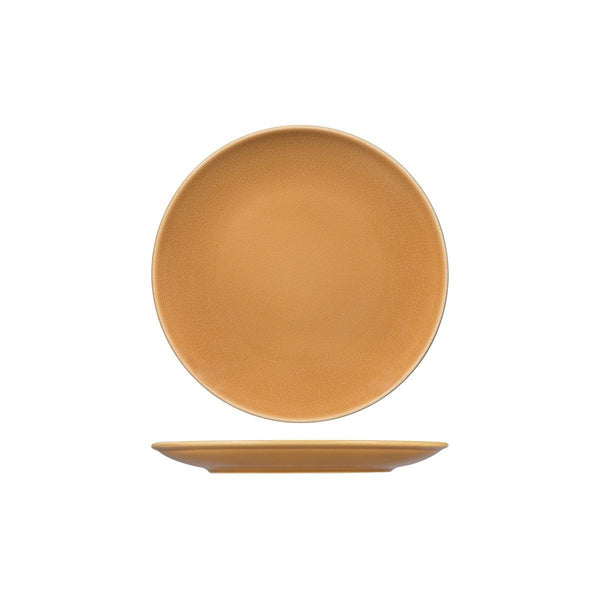 VINTAGE BEIGE ROUND COUPE PLATE