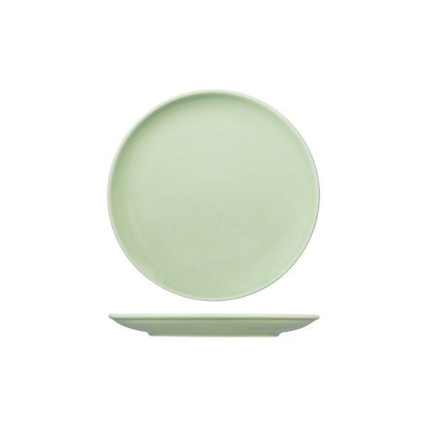 VINTAGE GREEN ROUND COUPE PLATE