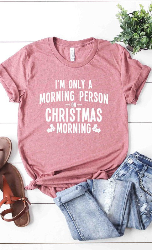 Morning Person Christmas Graphic Tee - PLUS