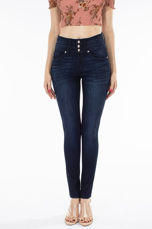 Danni 3-Button High Rise Skinny Jean - Kancan
