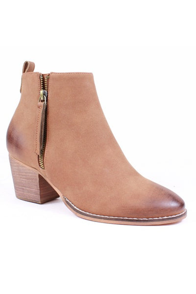 Corliss Leather Tassel Bootie