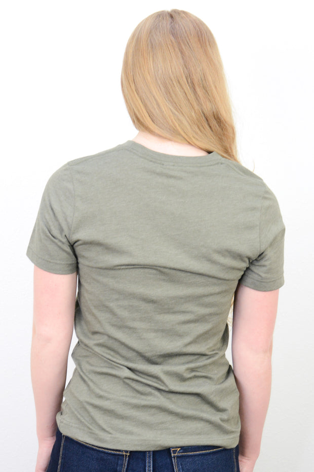 Be Kind Graphic Tee in Heather Olive
