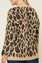 Charlie Leopard Mohair Sweater - Plus