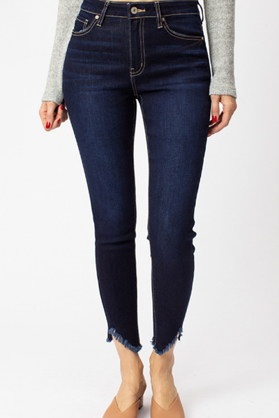 Emery High Rise Distressed Ankle Jeans