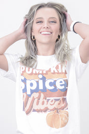Pumpkin Spice Vibes Retro Graphic Tee