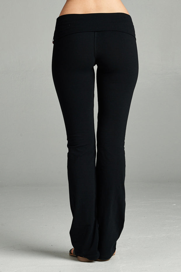 Taylor Fold Over Yoga Pants - 2 Colors
