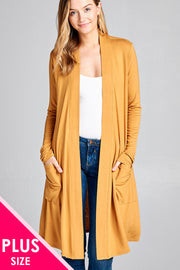 Bailey Rayon Front Pocket Cardigan - Plus